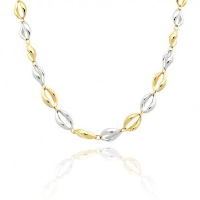 Łańcuszek złoty w połączeniu białego oraz żółtego złota