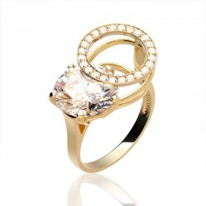 Pierścionek złoty w niebanalnym stylu.