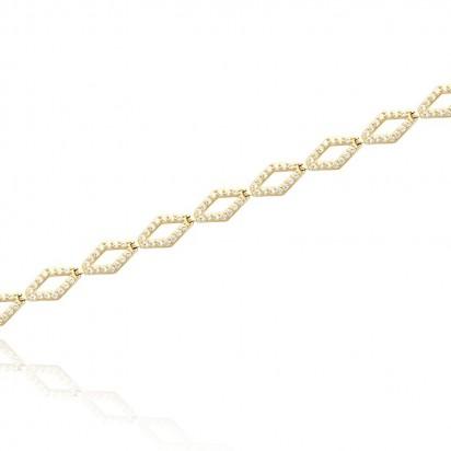 Bransoletka z żółtego złota w splocie na kształt rombów