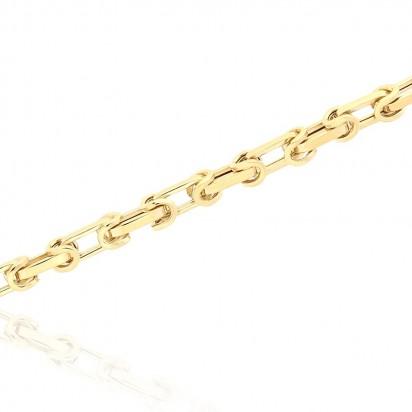 Bransoletka złota bizantyjski splot.