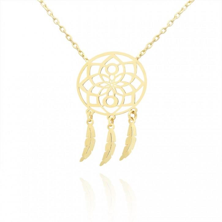 Naszyjnik złoty w stylu boho.
