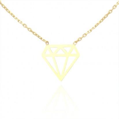 Naszyjnik złoty diamencik