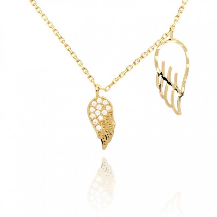 Naszyjnik złoty skrzydła anielskie.