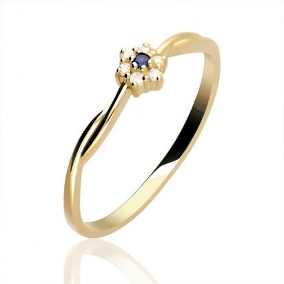 Pierścionek złoty z rubinem.