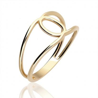 Pierścionek złoty klamerka.