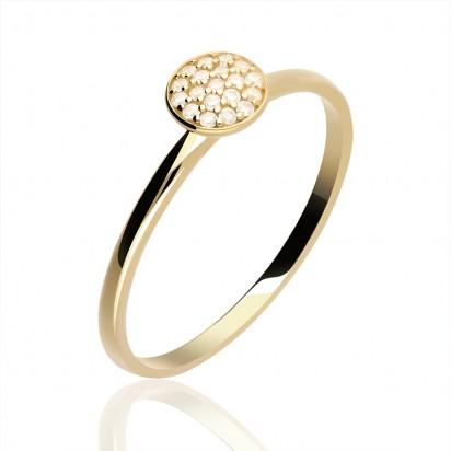 Pierścionek złoty nowoczesny styl.