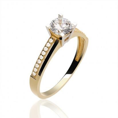 Pierścionek złoty zaręczynowy.
