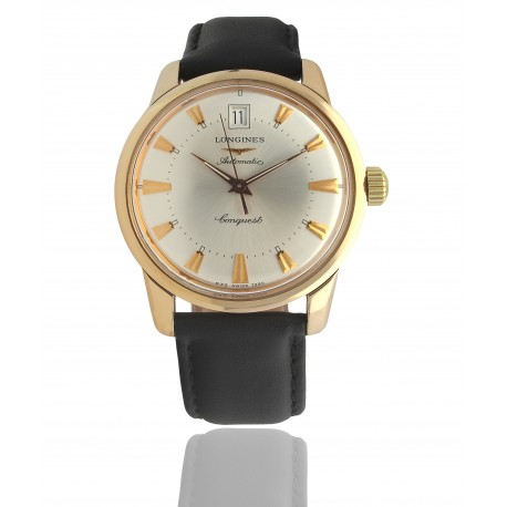 Longines Conquest Heritage Gold 18 KT