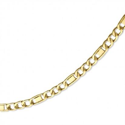 Złoty łańcuszek splot figaro.