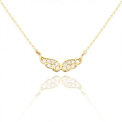 Złota celebrytka anielskie skrzydełko.