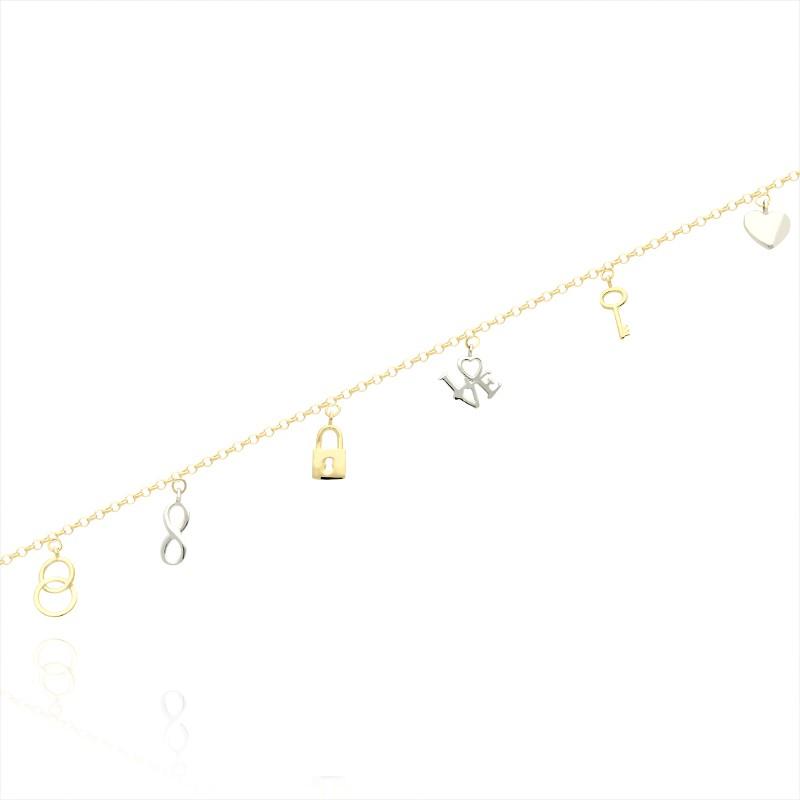 cac3ee19 Złota bransoletka historia miłości - Gold4U