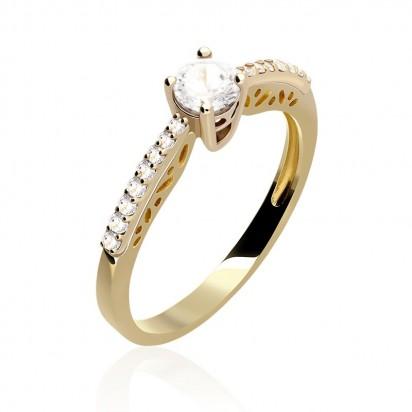 Pierścionek złoty miłosna estakada.
