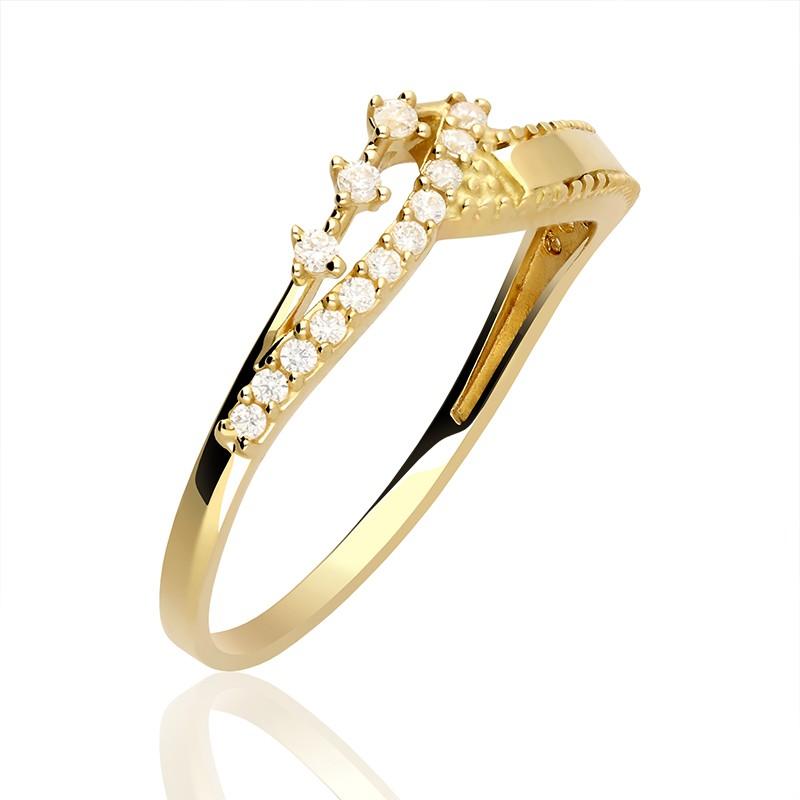 c6685a481212 Pierścionek złoty diadem z cyrkoniami. Loading zoom