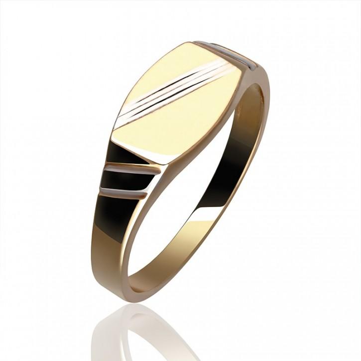 Złoty sygnet czyli białe i żółte złoto.