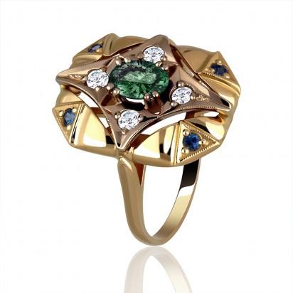 Żółte złoto z kamieniami szlachetnymi czyli pierścionek marzeń.