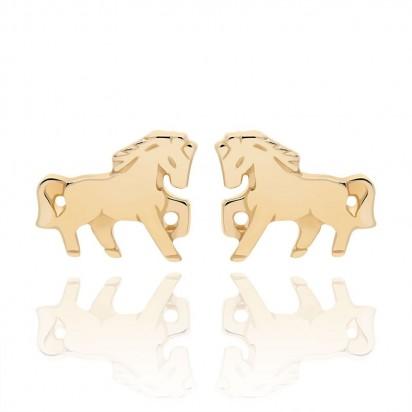Kolczyki złote konie