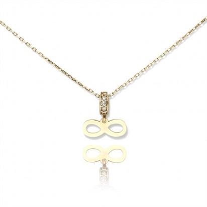 Unikatowy złoty naszyjnik dla kobiet.