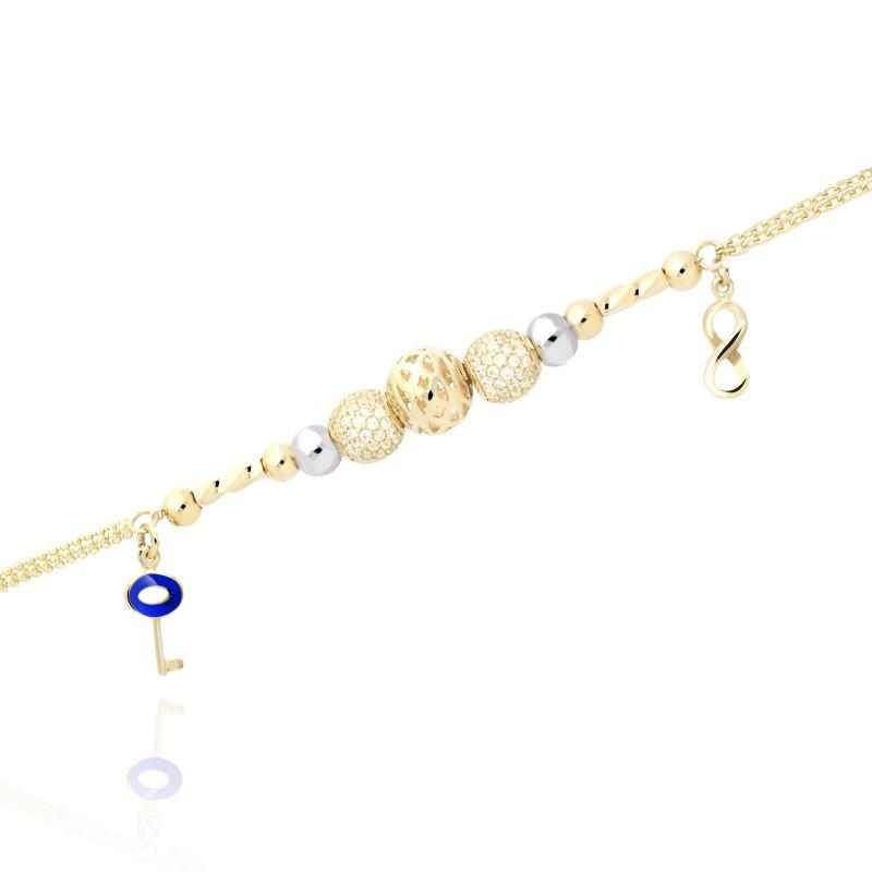 3a4ab368 Złota bransoletka klucz miłości - Gold4U