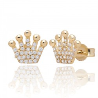 Kolczyki złote korony.
