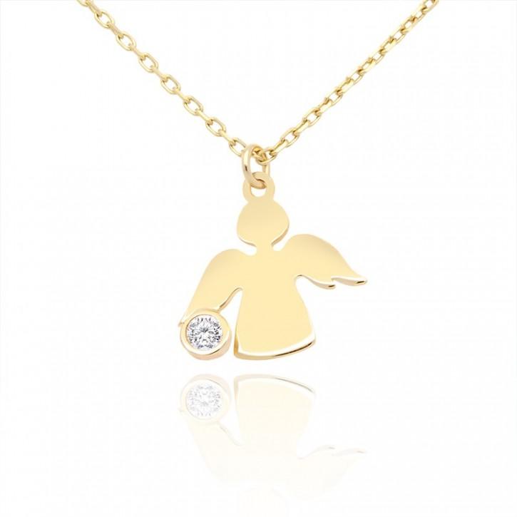 Naszyjnik złoty aniołek.