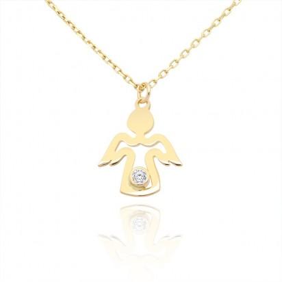 Naszyjnik złoty aniołek