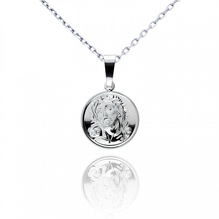 Srebrny medalik z Jezusem