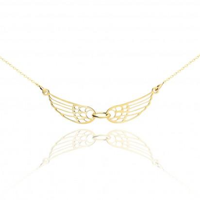 Srebrna celebrytka anielskie skrzydła