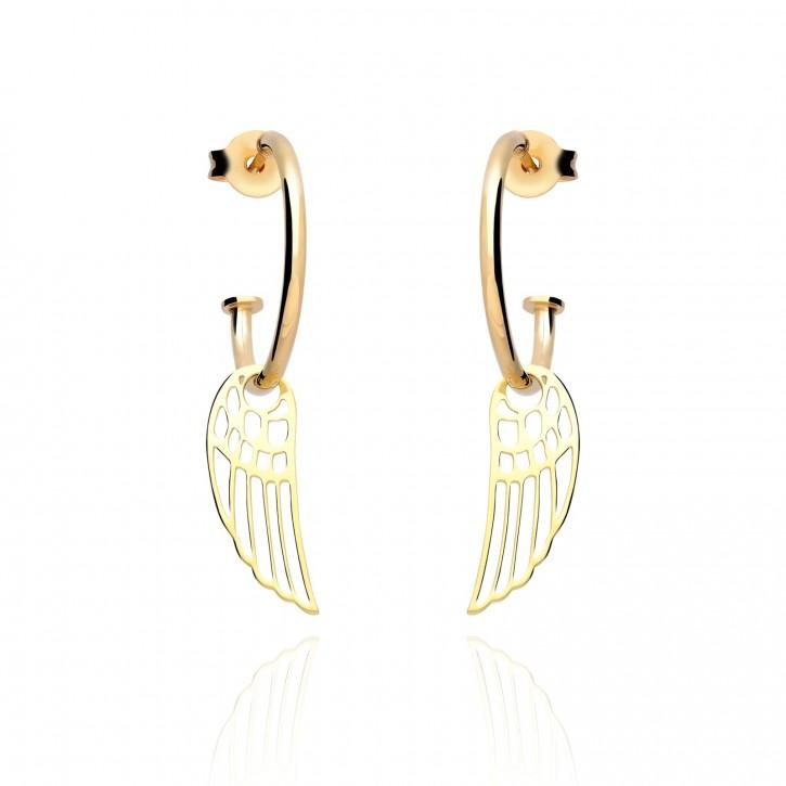 Kolczyki srebrne anielskie skrzydła