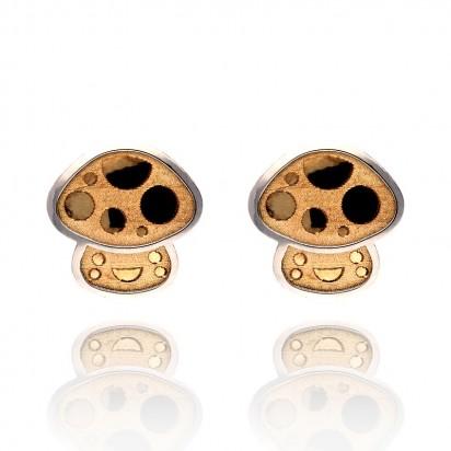 Kolczyki złote muchomorki