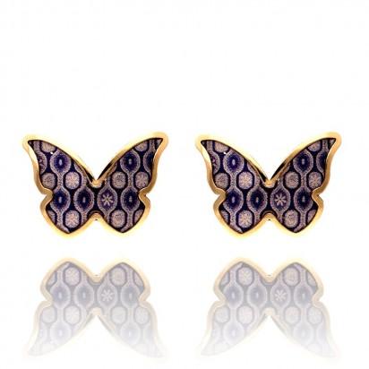 Kolczyki złote dziecięce motylki