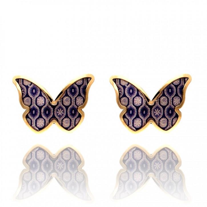 Kolczyki złote motylki dziecięce.