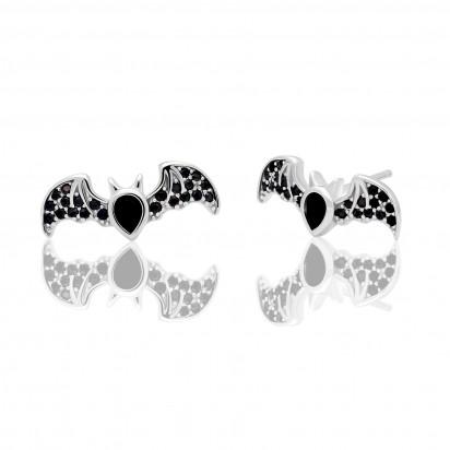 Srebrne kolczyki nietoperze