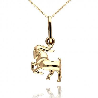 Złota zawieszka znak zodiaku koziorożec