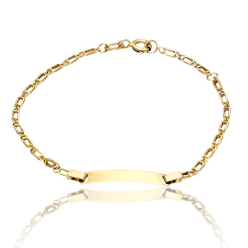 b4101069 Bransoletka ze złotą blaszką idealna na grawer - Gold4U
