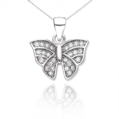 Zawieszka srebrna motyl