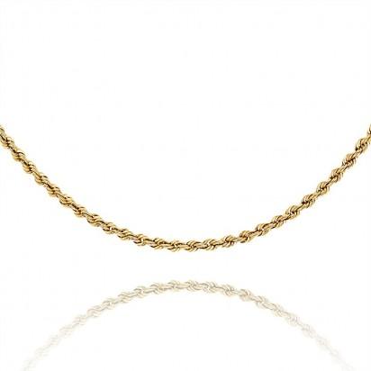 Złoty łańcuszek splot kordel.