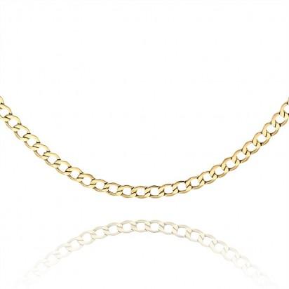 Łańcuszek złoty w splocie typu pancerka.
