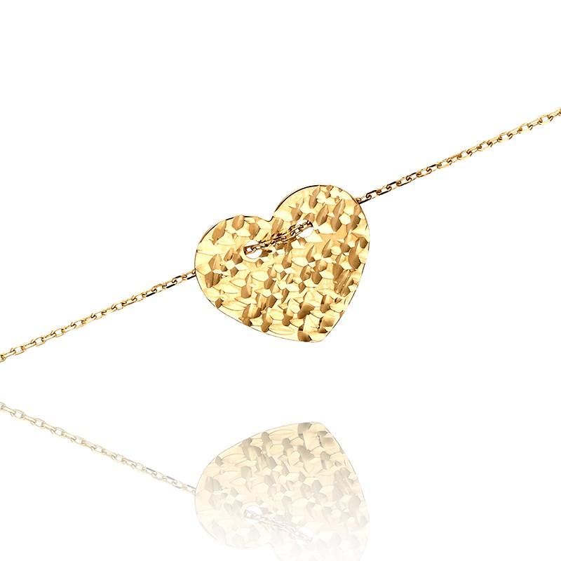 e08483460e71 Bransoletka złota z serduszkiem. Loading zoom
