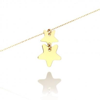 Bransoletka złote gwiazdeczki