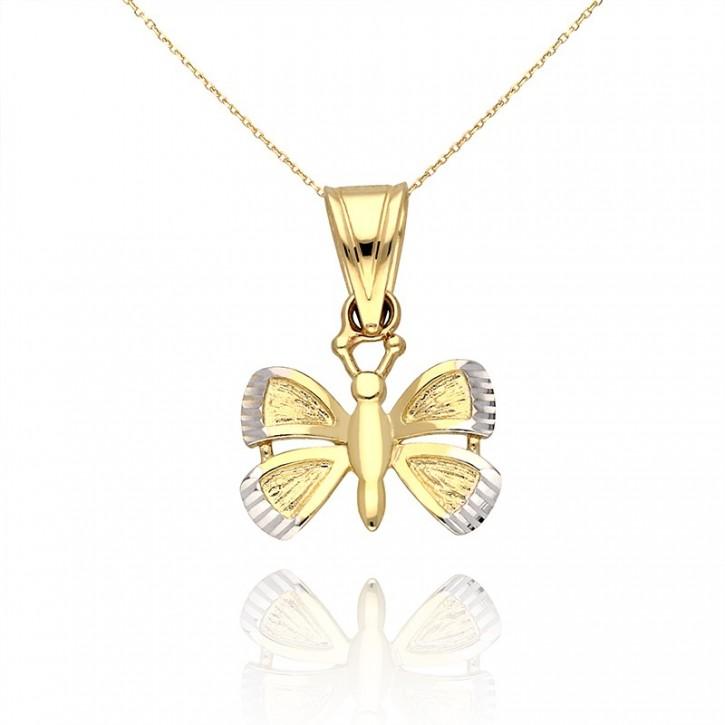 Złota zawieszka motyl.