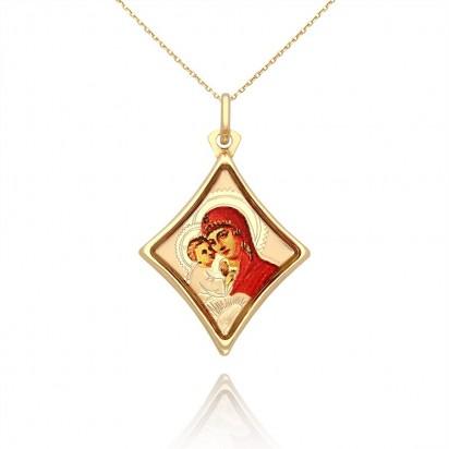Medalik z Matką Boską i dzieciątkiem