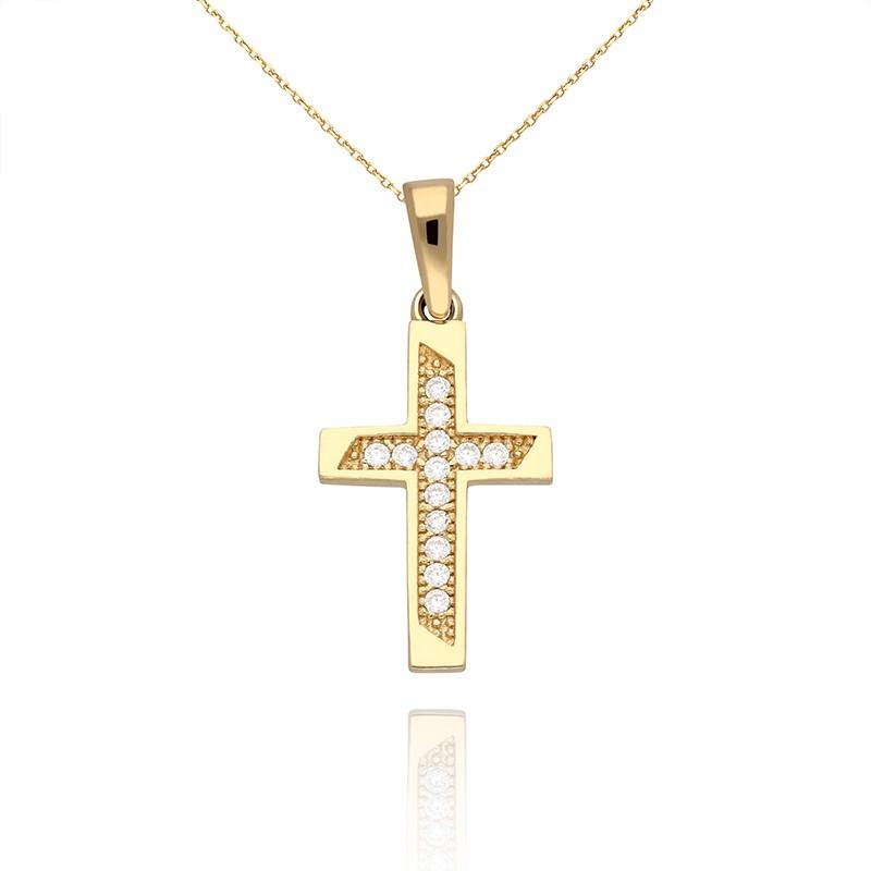 46557c9afe4ae7 Zawieszka złota krzyżyk - Gold4U