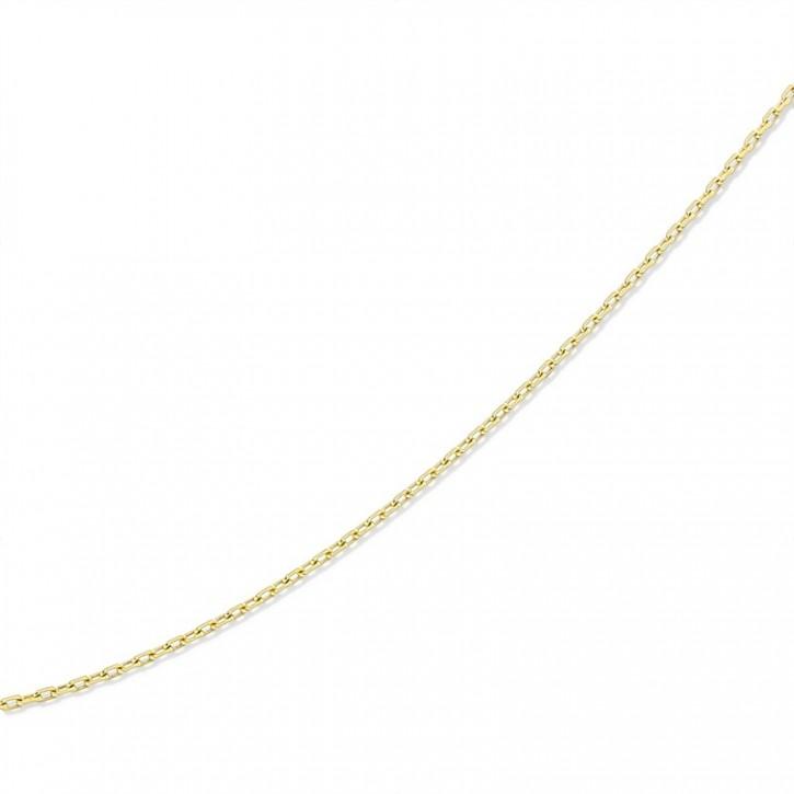 Złoty łańcuszek w splocie ankier.