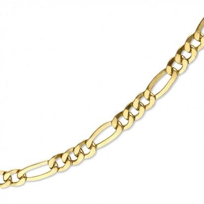 Łańcuszek złoty splot figaro.