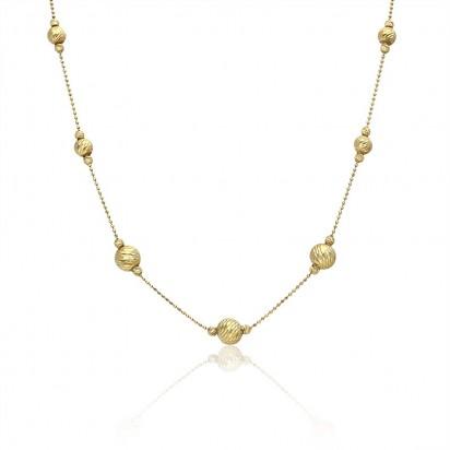 Naszyjnik złoty klasyczny styl