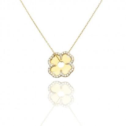 Naszyjnik złoty kwiat młodości