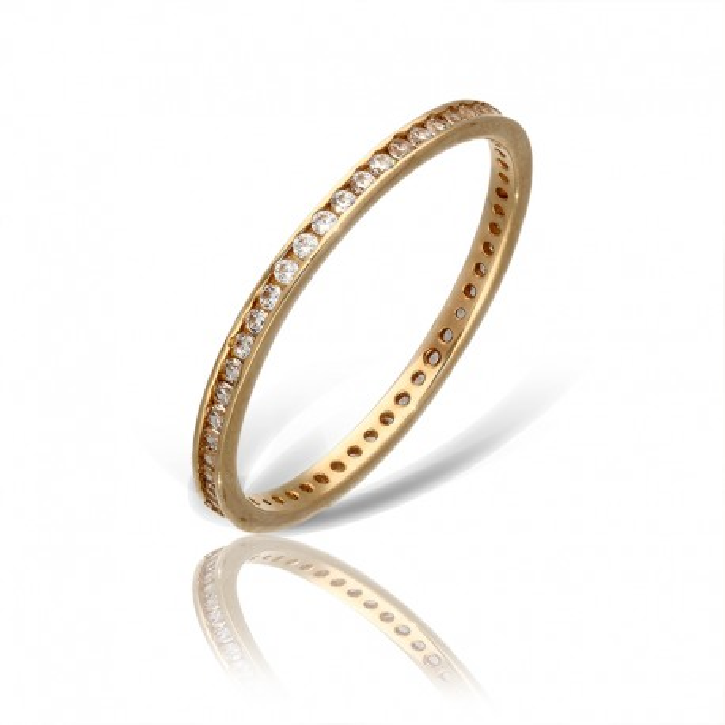 Pierścionek złoty na wzór obrączki.