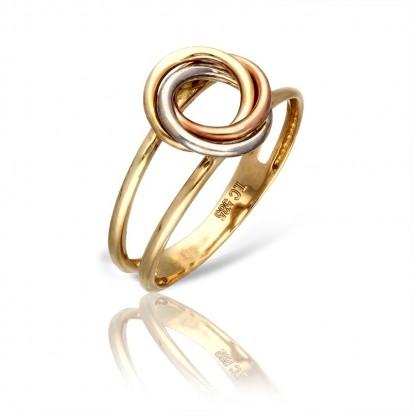Trójkolorowa barwa złotego pierścionka