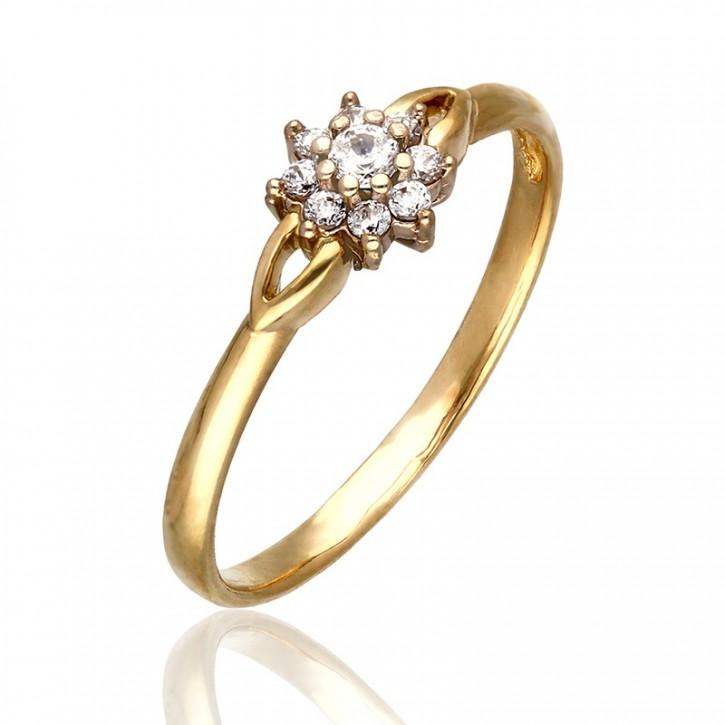 Pierścionek złoty kwiat.