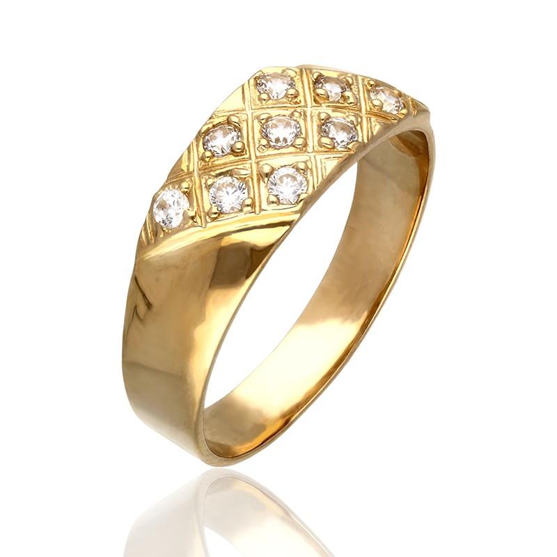 Pierścionek Złoty Obrączka Szachownica Gold4u